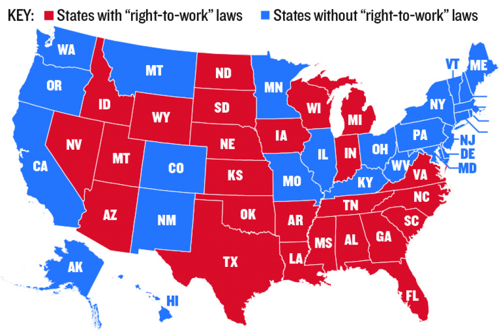"Analysis: What ""Right-To-Work"" States Look Like 