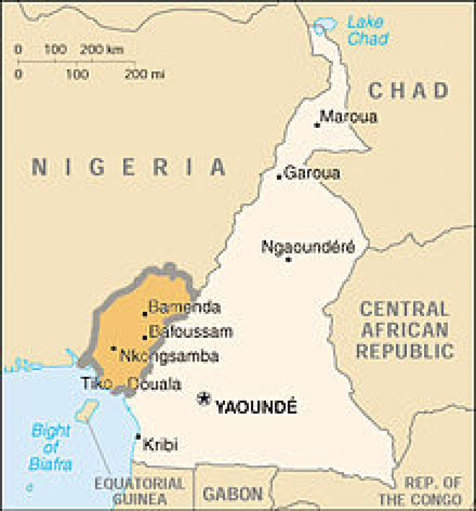 Anglophone Crisis - Wikipedia within Uno State Of Cameroon Map