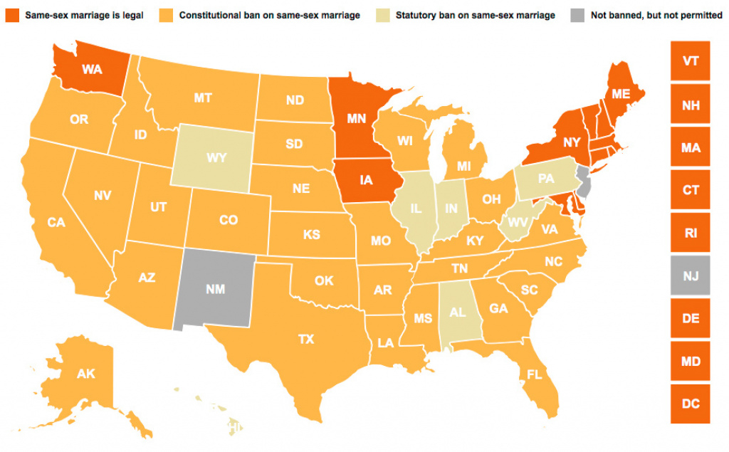 Another Step Towards The Finish Line with regard to Map Of Gay Marriage States 2014