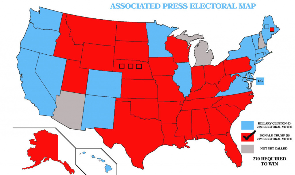Ap: Trump Wins Presidency | News, Sports, Jobs - The Sentinel pertaining to States Trump Won Map