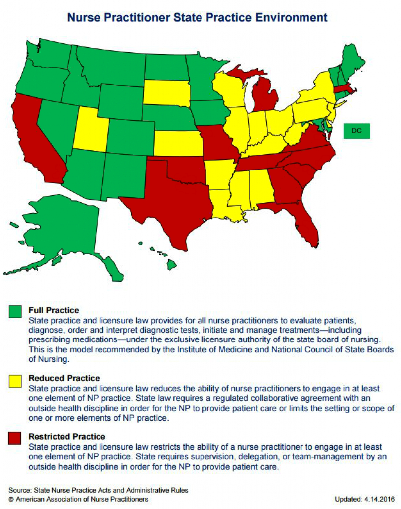 Aprns Enjoy Increasing Autonomy with regard to Nurse Practitioner Prescriptive Authority By State Map