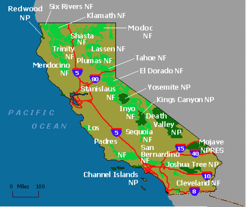 Area Cfm California State Map California Map National Parks Picture regarding California State Parks Map