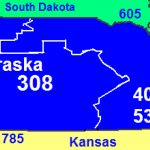 Area Codes 402 And 531   Wikipedia Inside Map Of Nebraska And Surrounding States