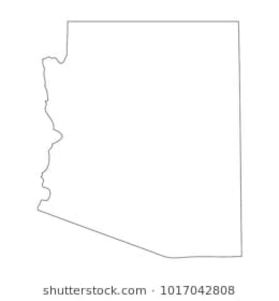 Arizona Map Images, Stock Photos & Vectors | Shutterstock for Arizona State Map Outline