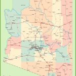 Arizona Road Map With Cities And Towns With Regard To State Map With Cities