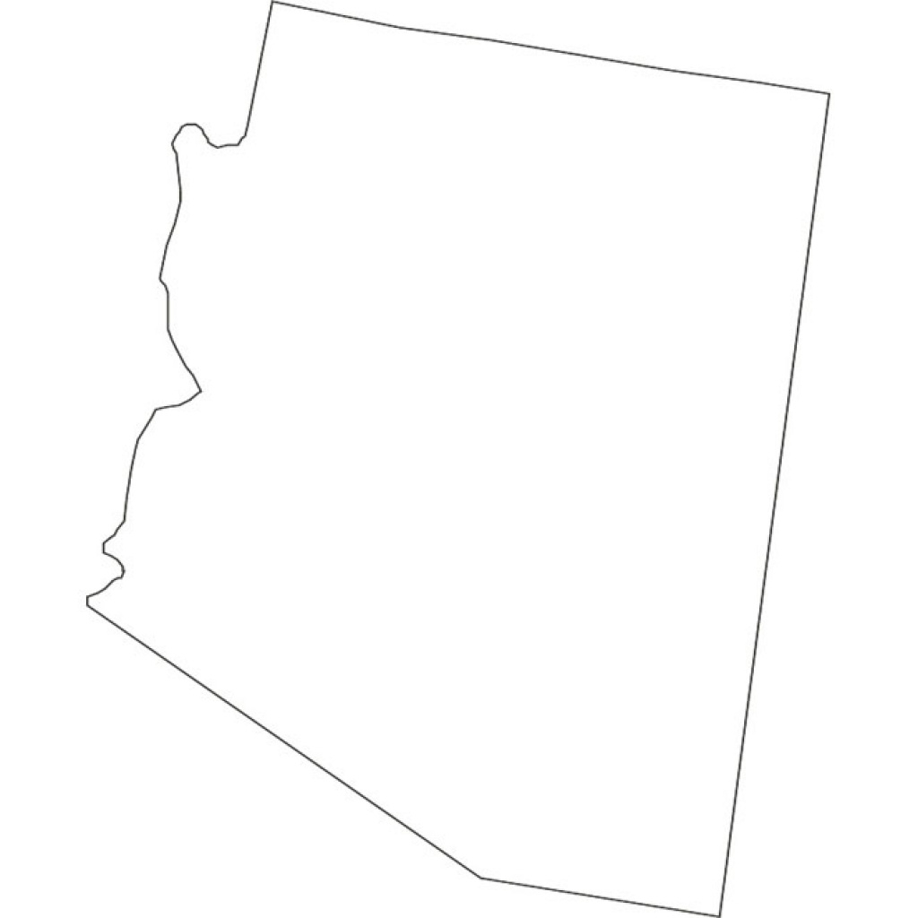 Arizona Vector Map - Download At Vectorportal intended for Arizona State Map Outline