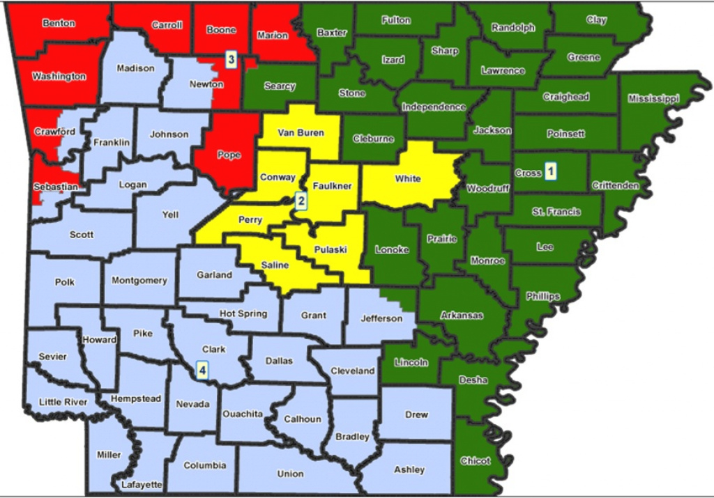 Arkansas Congressional District Map: See Us House Representative with regard to Arkansas State Senate Map