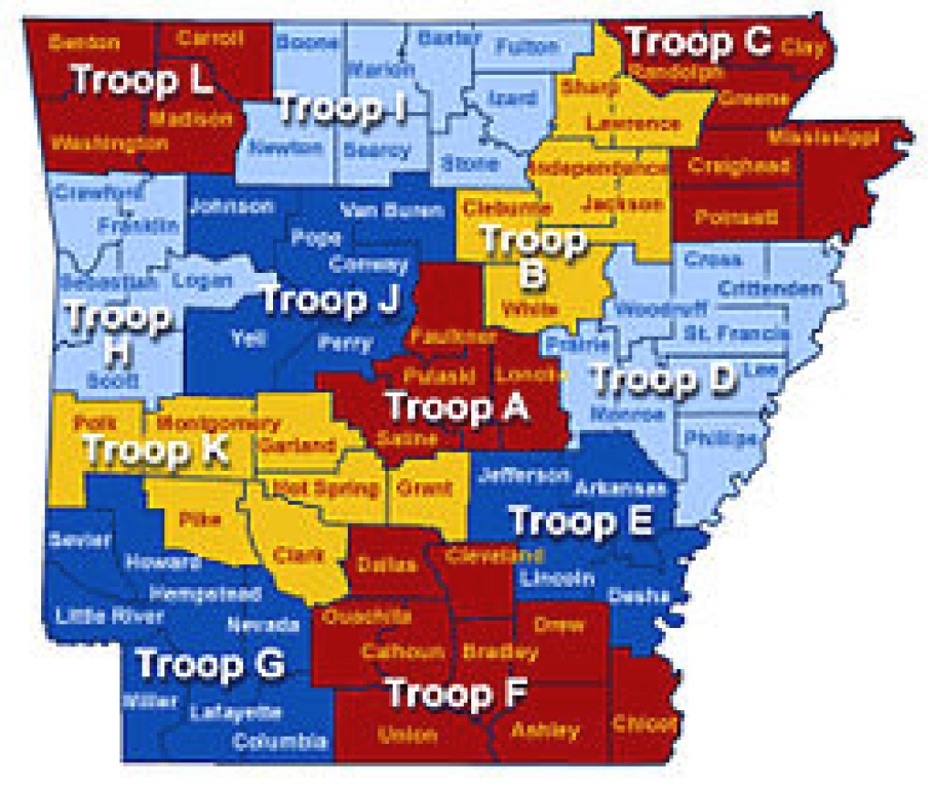 Arkansas Highway Patrol - Wikipedia with Pa State Police Troop Map