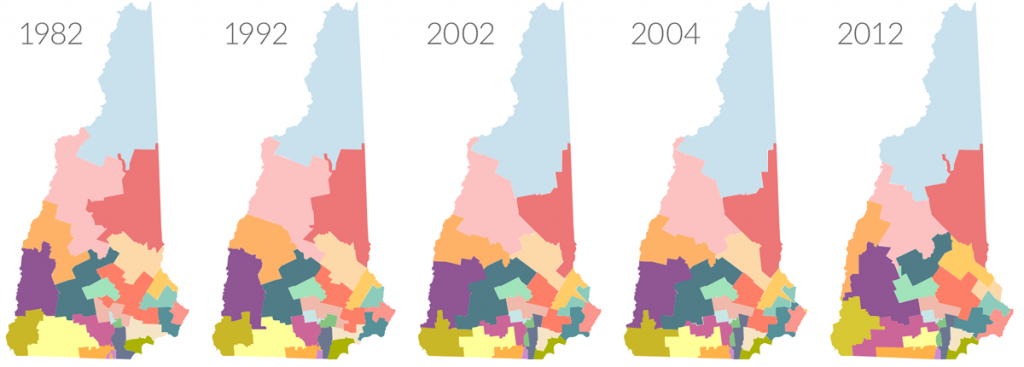 As New Hampshire Shifts To A Swing State, Why Do Legislative Lines in Nh State Congressional Districts Map