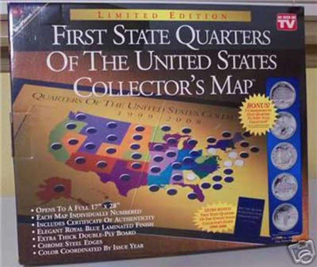 As Seen On Tv Products-First State Quarters Collectors Map within State Series Quarters Collector Map