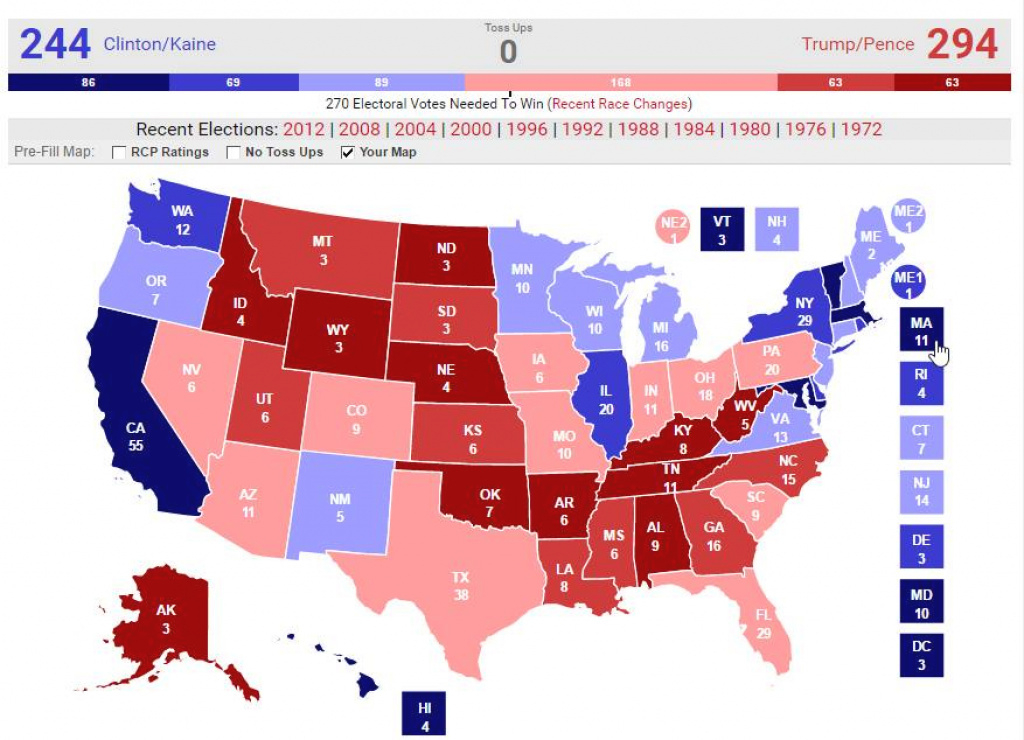 Astrology And Politics: 2016 U.s. Presidential General Election pertaining to 1980 Presidential Election Results By State Map