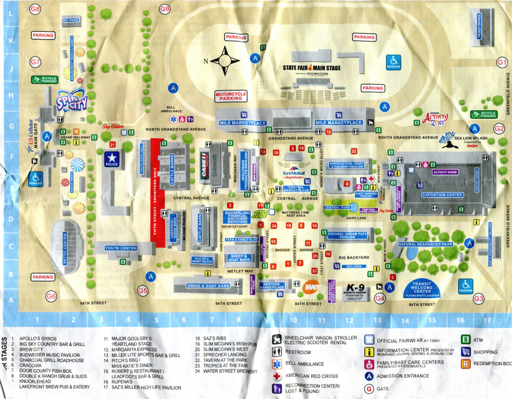 August | 2015 | Been There, Seen That with Wisconsin State Fair Grounds Map