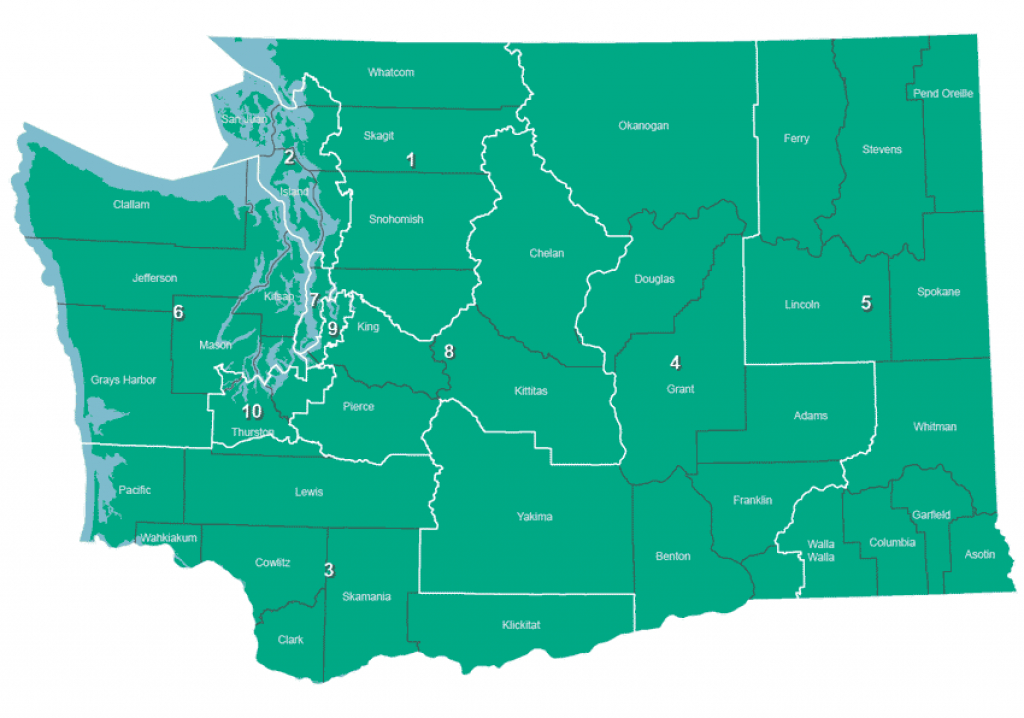 August 7, 2018 Primary - Federal-Representatives throughout Washington State Legislative Map