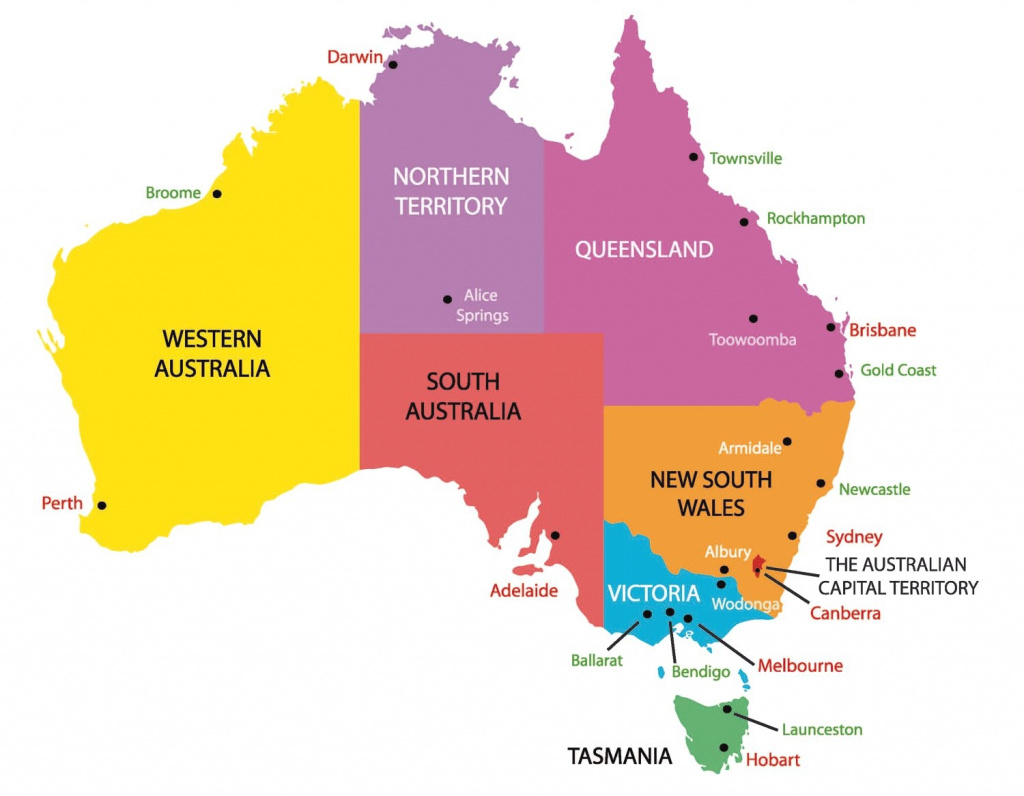 Australia Map Capital Cities 9 Maps Update 674521 With And States intended for Map Of Australia With States And Major Cities