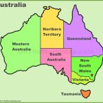 Australia States And Territories Map | List Of Australia States And Intended For Australian States And Territories Map