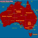 Australia States Map Pertaining To Australian States And Territories Map