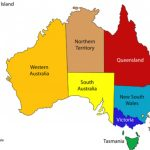Australian State And Territory Flags For Australian States And Territories Map