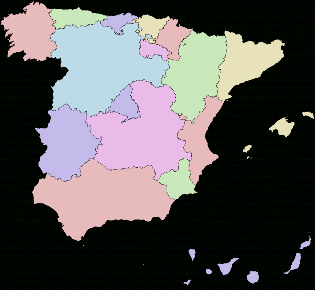 Autonomous Communities Of Spain - Wikipedia within Spain States Map