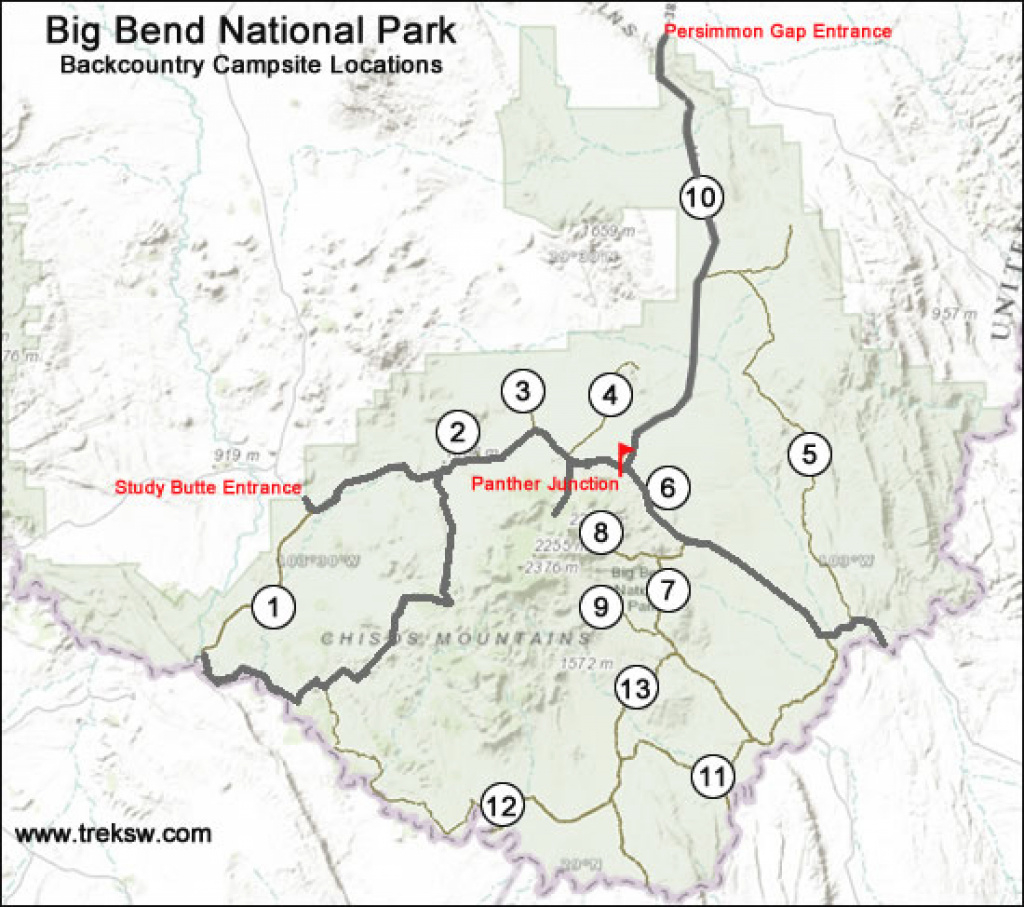 Backcountry Camping In Big Bend National Park - The Complete Guide intended for Big Bend State Park Map