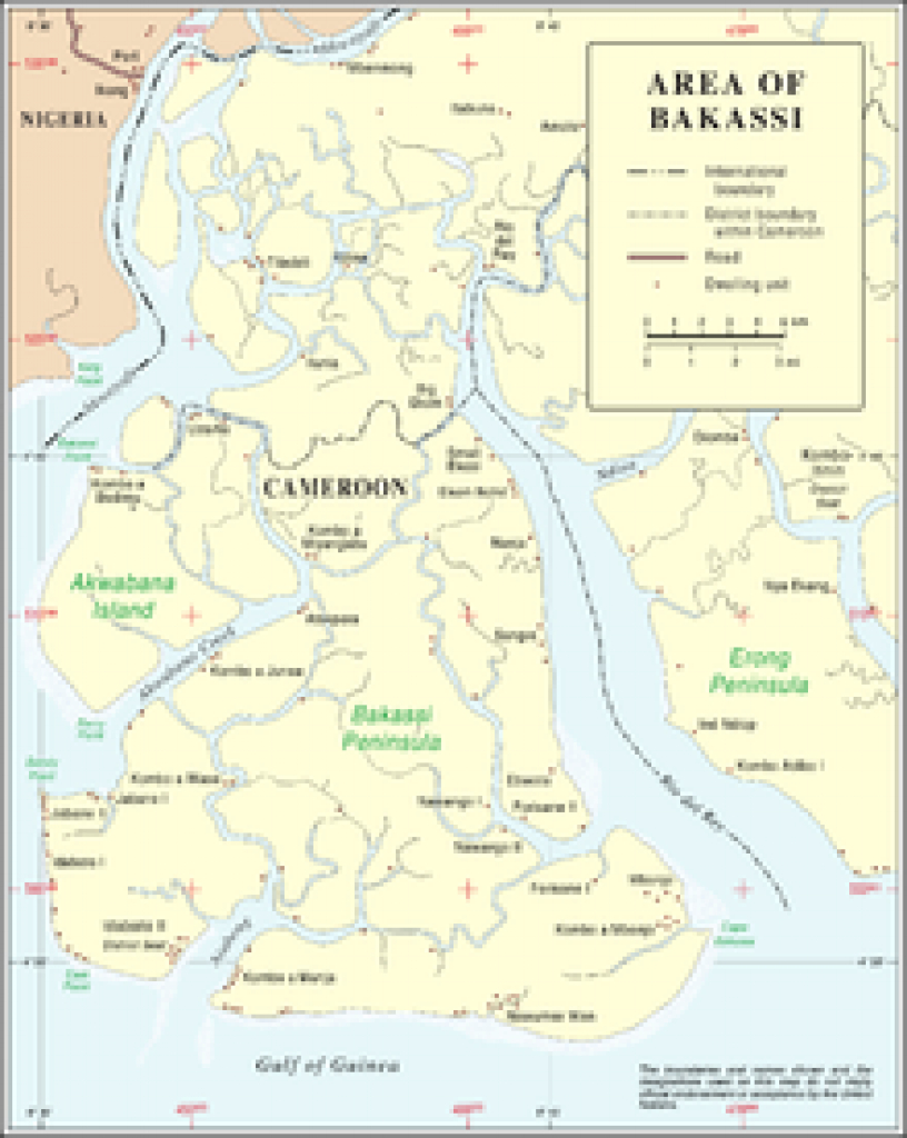 Bakassi - Wikipedia inside Uno State Of Cameroon Map