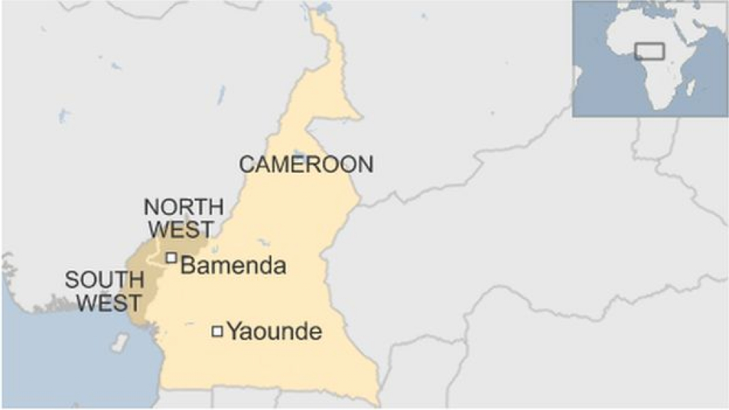 Bamenda Protests: Mass Arrests In Cameroon - Bbc News for Uno State Of Cameroon Map