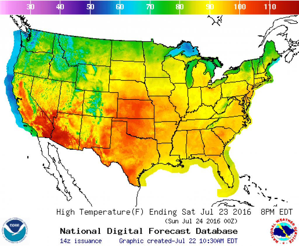 Beat The Heat | Fema.gov inside Weather Heat Map United States