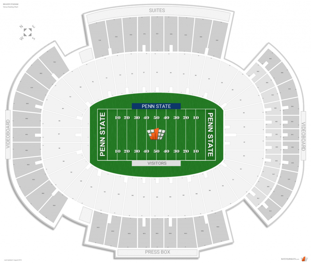 Beaver Stadium (Penn State) Seating Guide - Rateyourseats in Penn State Football Stadium Seating Map With Rows