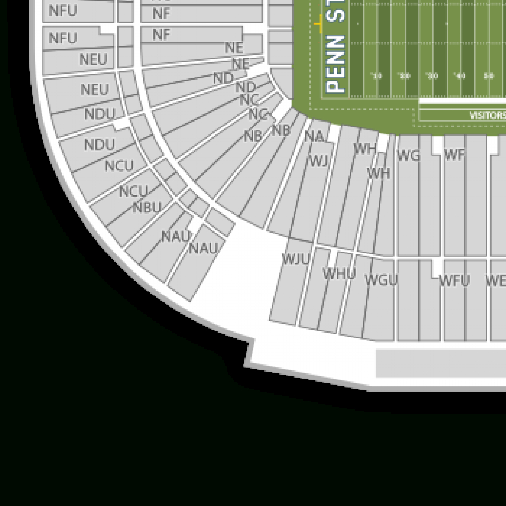 Beaver Stadium Seating Chart & Map | Seatgeek for Penn State Football Stadium Seating Map With Rows