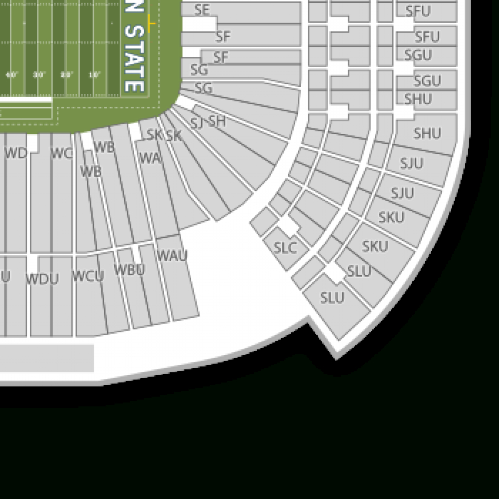 Beaver Stadium Seating Chart & Map | Seatgeek in Penn State Football Stadium Seating Map With Rows