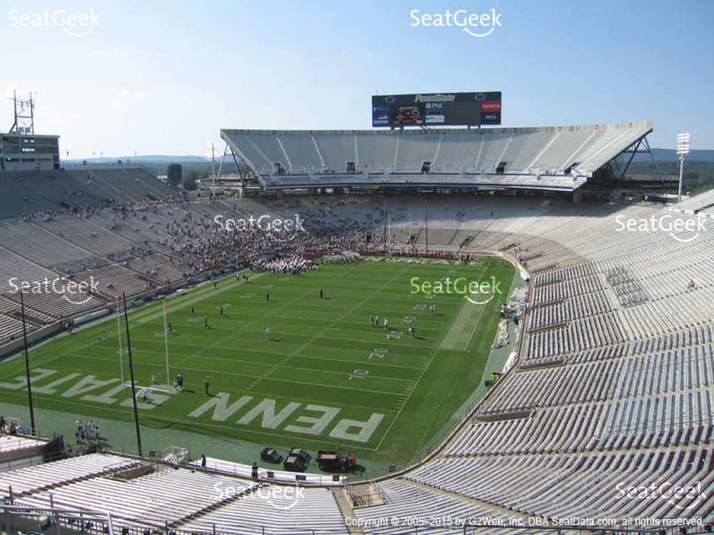Beaver Stadium Seating Chart & Map | Seatgeek inside Penn State Football Stadium Seating Map With Rows