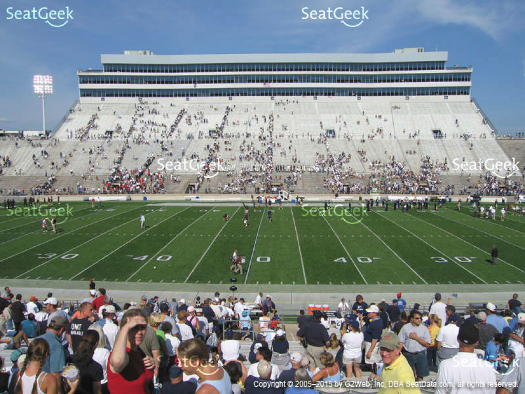 Beaver Stadium Seating Chart & Map | Seatgeek throughout Penn State Football Stadium Seating Map With Rows