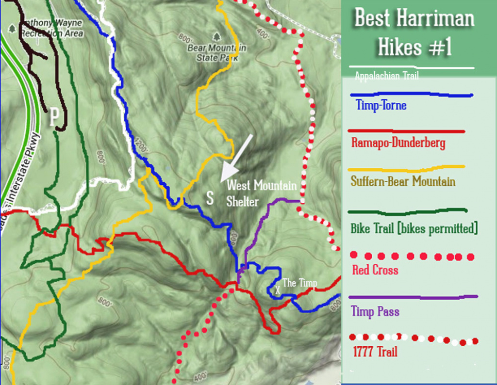 Best Hikes In Harriman State Park #1: The Timp And West Mountain regarding Harriman State Park Trail Map