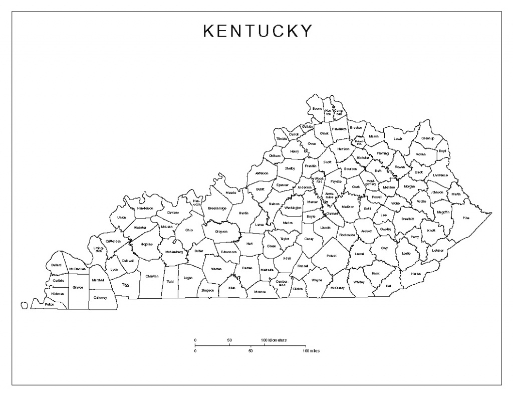 Best Photos Of Ky County Map - Kentucky Counties Maps Printable with Kentucky State Map With Counties