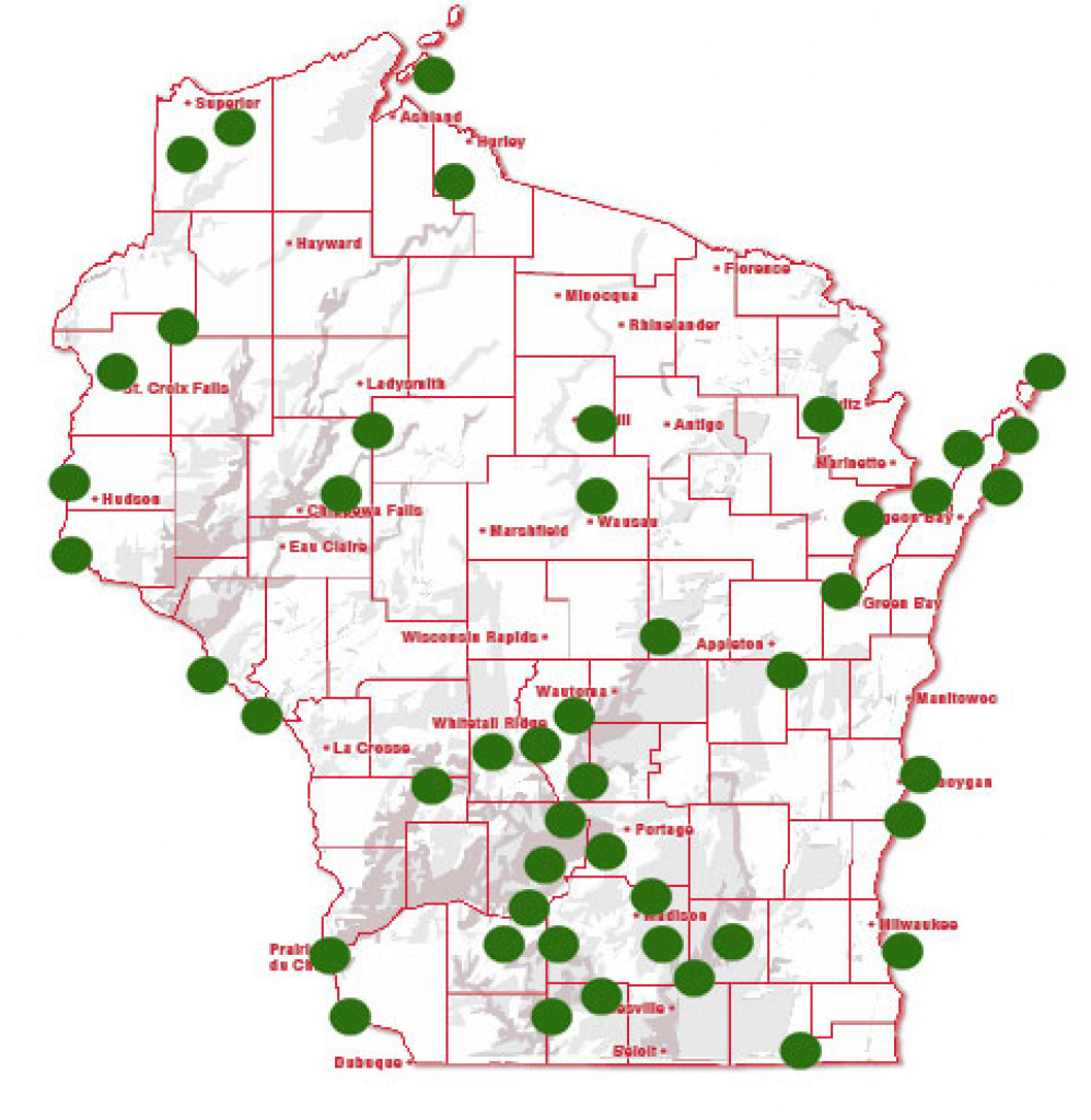 Best Photos Of Wisconsin State Campgrounds Map - Wisconsin State with regard to Wisconsin State Campgrounds Map