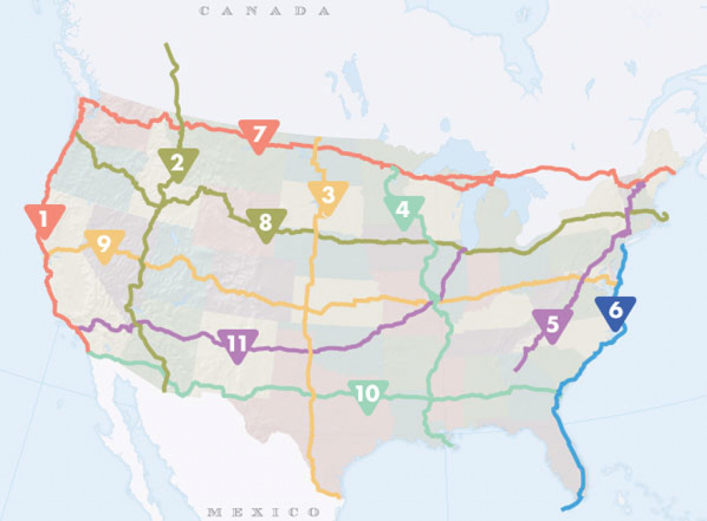 Best Road Trip Routes In The United States with United States Road Trip Map