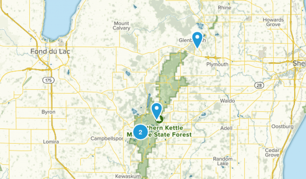 Best Trails In Kettle Moraine State Forest Northern Unit - Wisconsin with regard to Kettle Moraine State Park Map