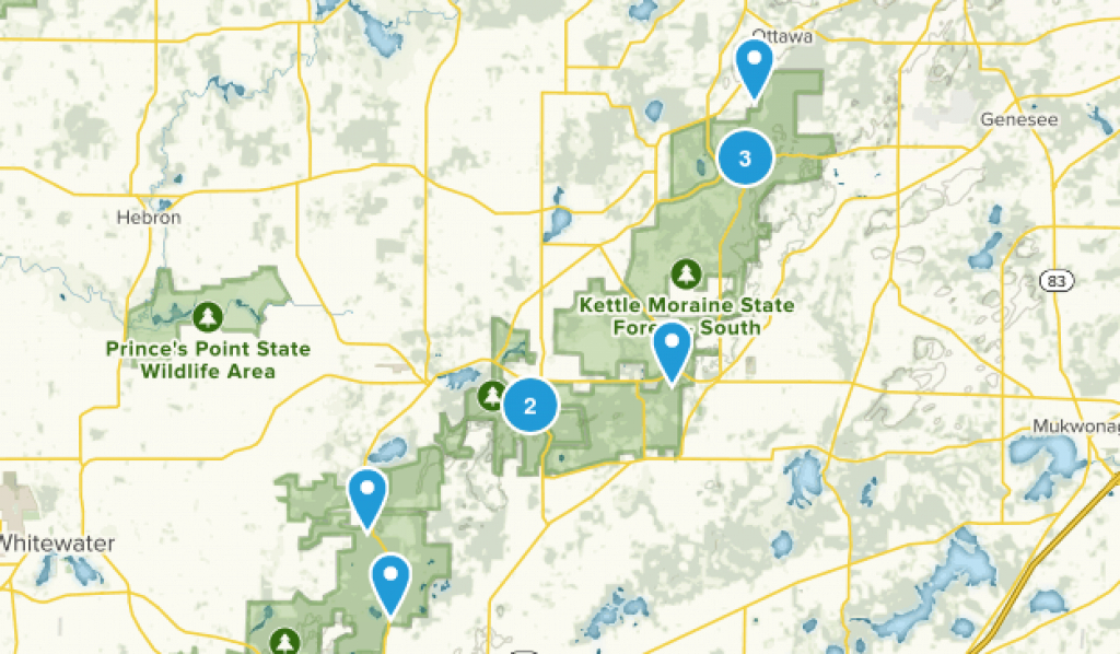Best Trails In Kettle Moraine State Forest Southern Unit - Wisconsin throughout Kettle Moraine State Park Map