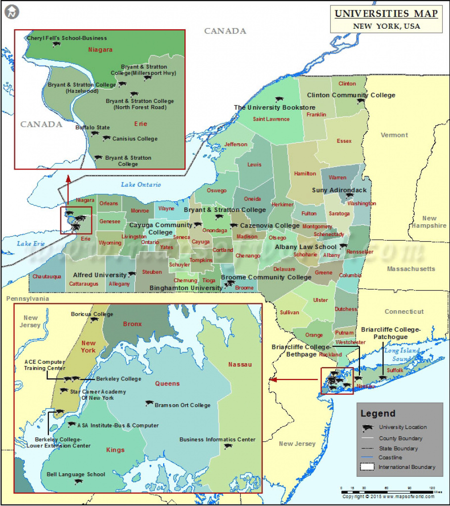 Best Universities In New York State, List Of Top Colleges In New York within State University Of New York Map