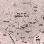 Big Bend Country: Big Bend National Park Map With Regard To Big Bend State Park Map