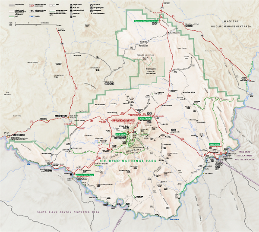 Big Bend National Park Map - Big Bend National Park Tx • Mappery throughout Big Bend State Park Map