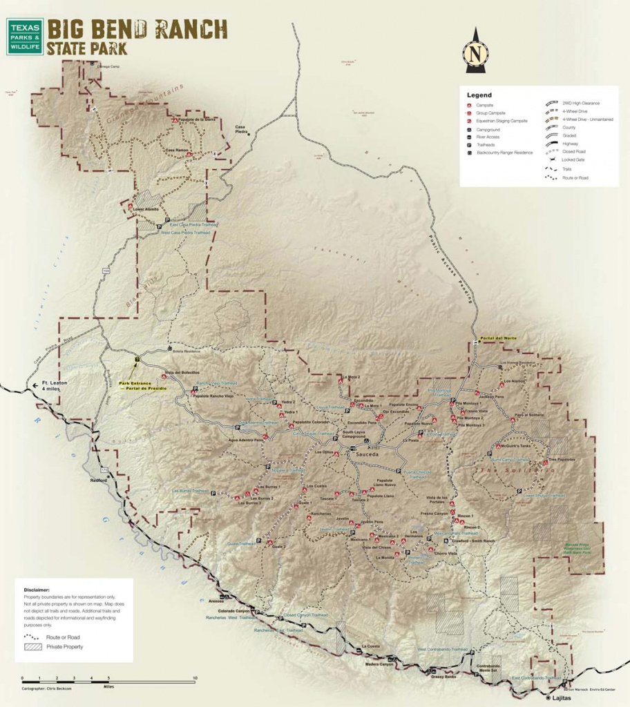 Big Bend Ranch State Park — Texas Parks & Wildlife Department intended for Big Bend State Park Map