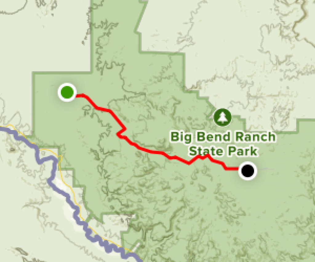 Big Bend Ranch State Park Trail - Texas | Alltrails throughout Big Bend State Park Map
