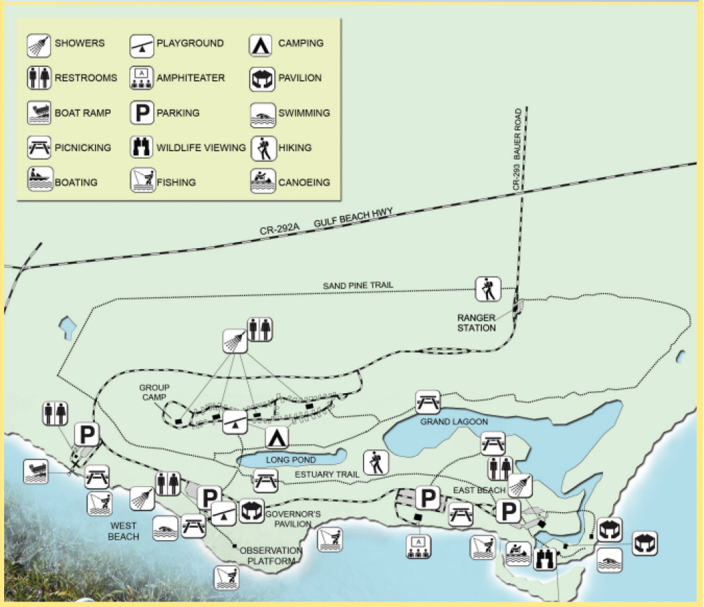 Big Lagoon State Park: Map Of Big Lagoon State Park Food, Shops And for Florida State Parks Camping Map