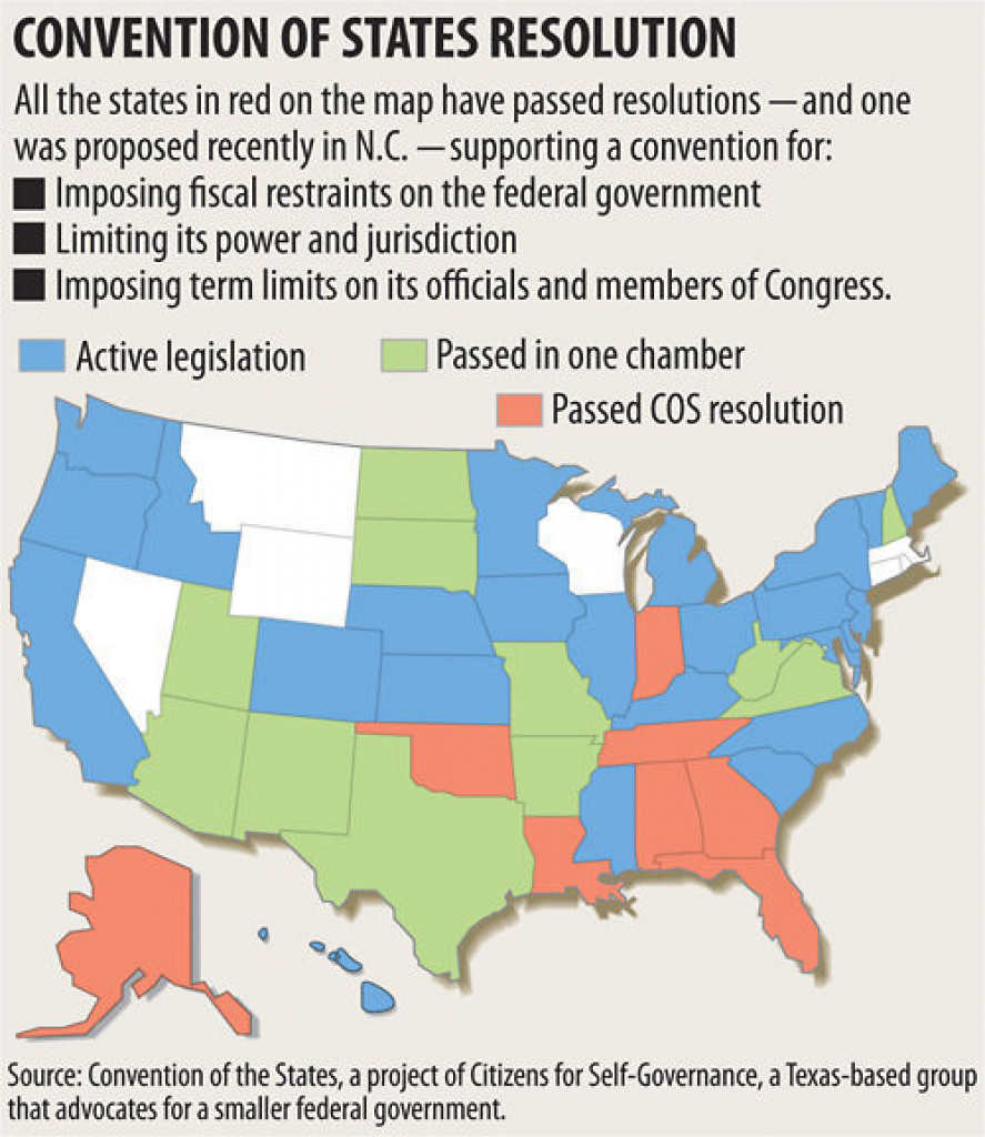Bills Call For North Carolina To Join Movement To Change U.s. in Convention Of States Map
