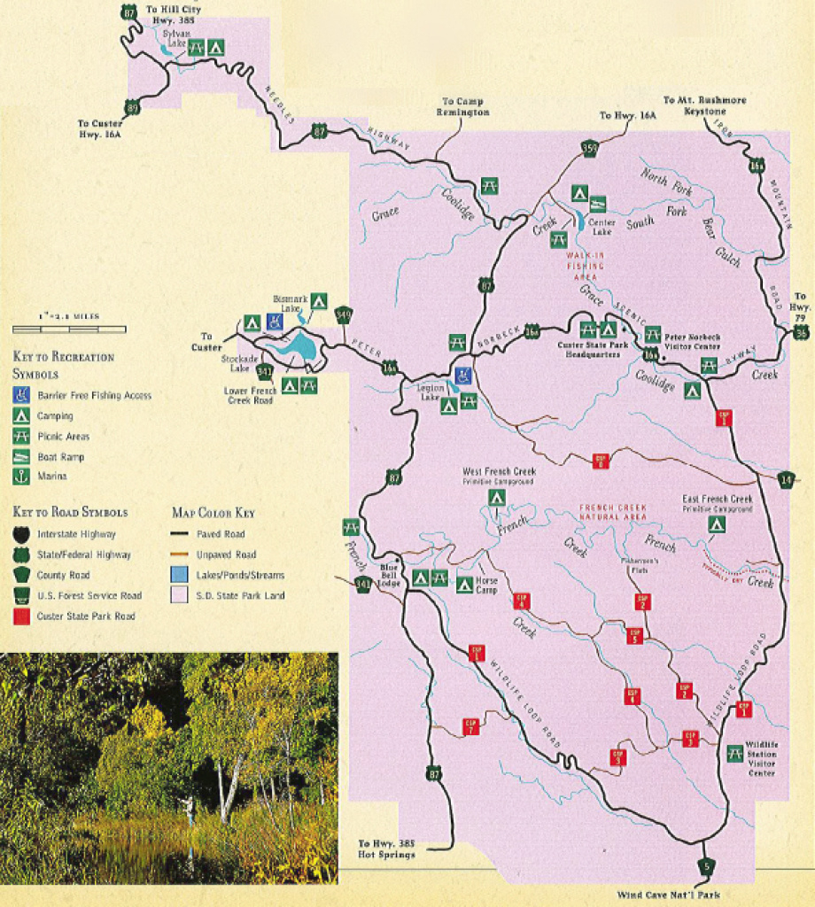Black Hills And Rapid City, Sd Fishing And Flying Fishing pertaining to Custer State Park Map
