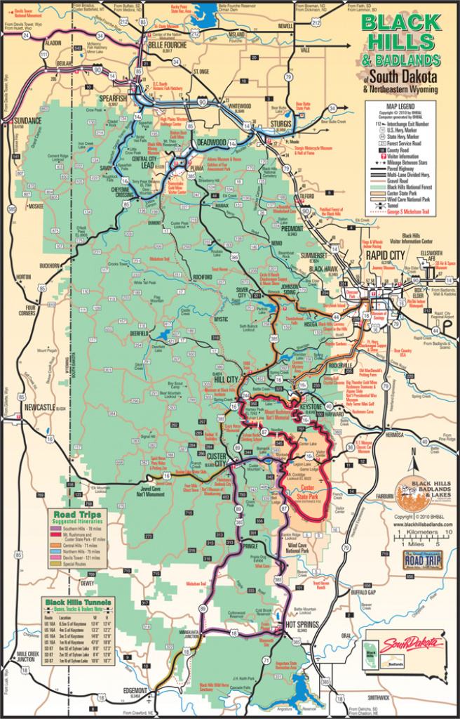 Black Hills Maps- Plan Your Visit | Vacation Deals with regard to Custer State Park Map