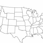 Blank Map Of Continental Us Blank Us Outline Map Printable United With Regard To A Blank Map Of The United States
