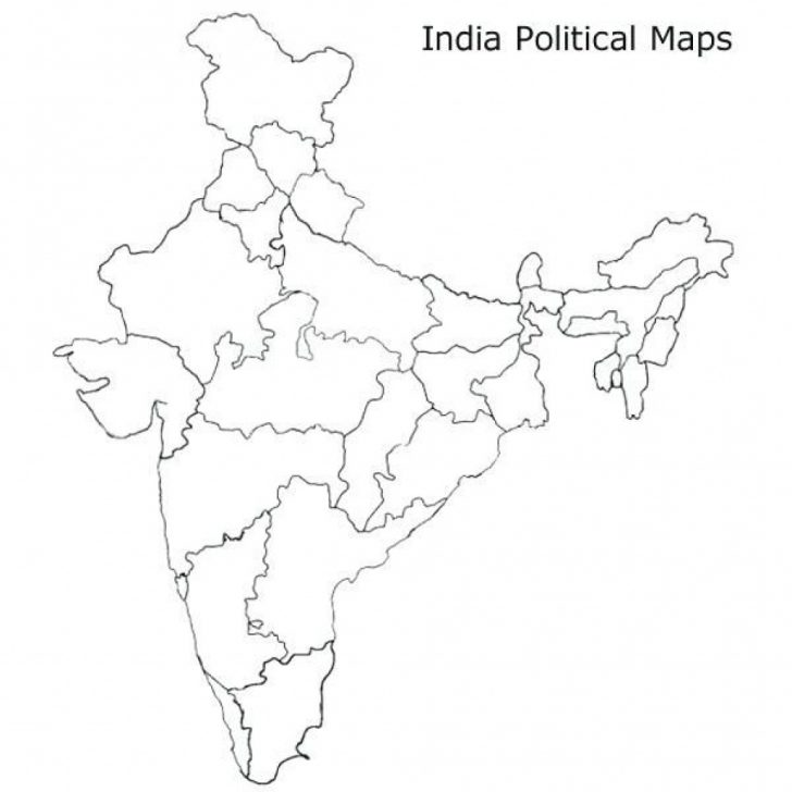 India Blank Map With States Pdf