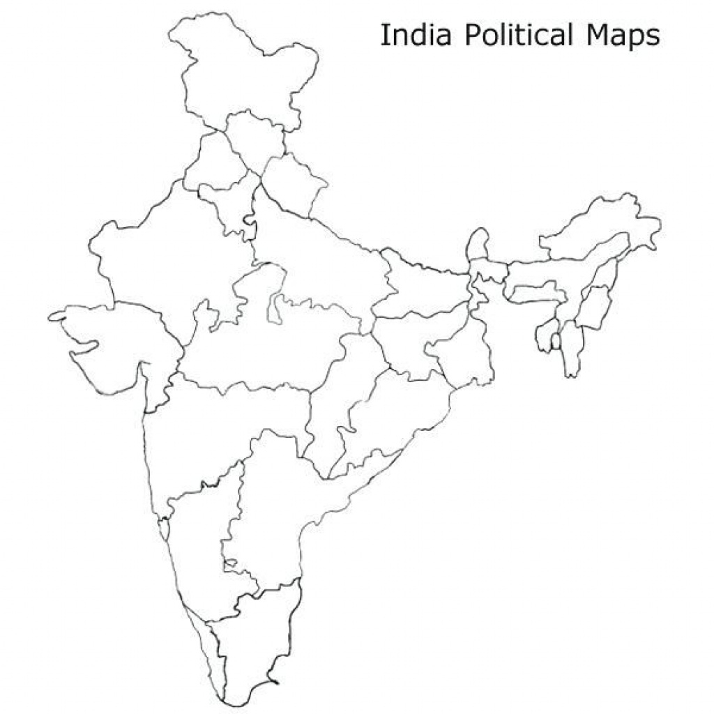 Blank Map Of India Pdf Maps Political Map India Outline Blank Of Pdf intended for India Blank Map With States Pdf