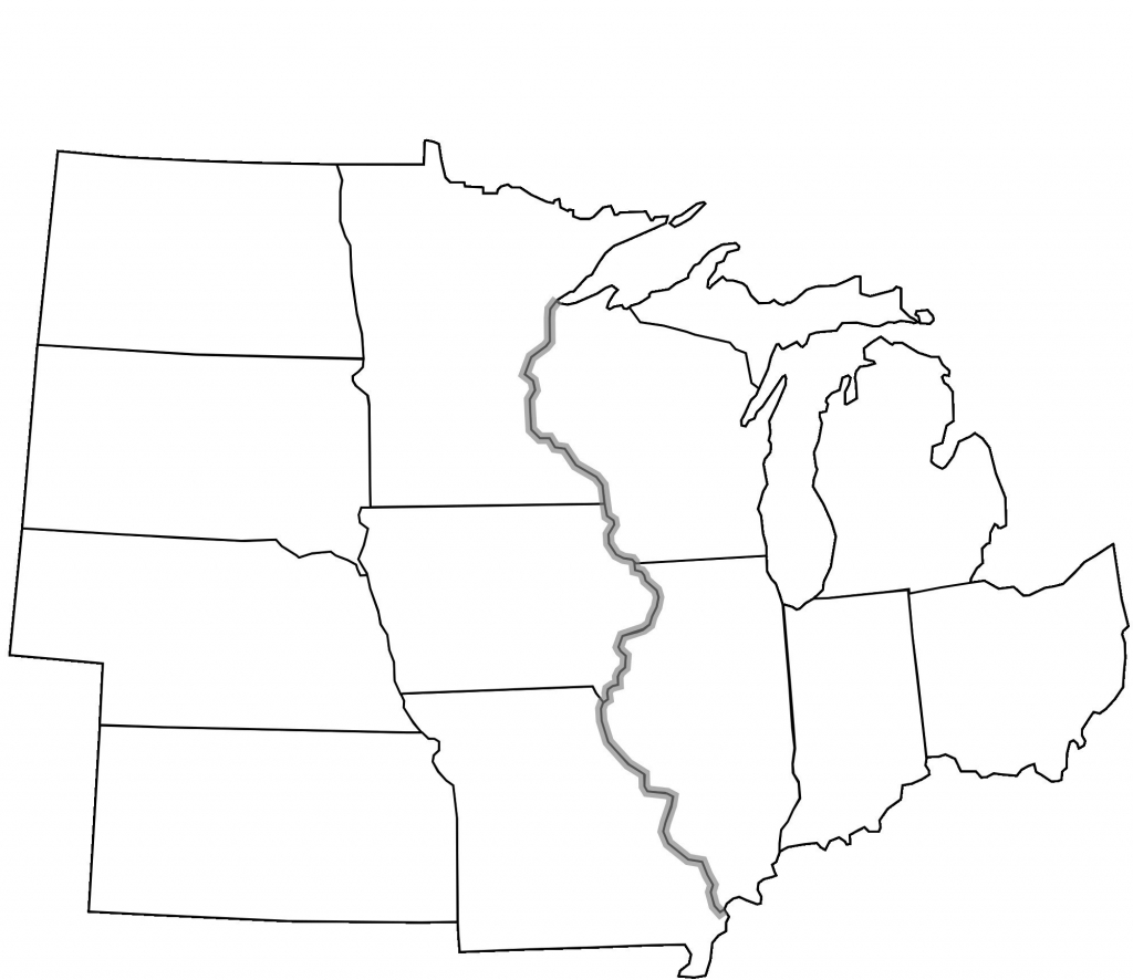 Blank Map Of Midwest States Best Label Midwestern Us States Printout with regard to Blank Map Of Midwest States